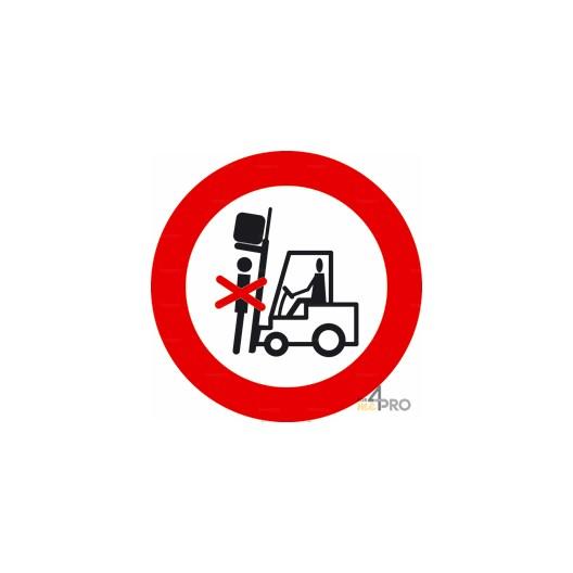 Panneau interdiction de stationner sous la charge