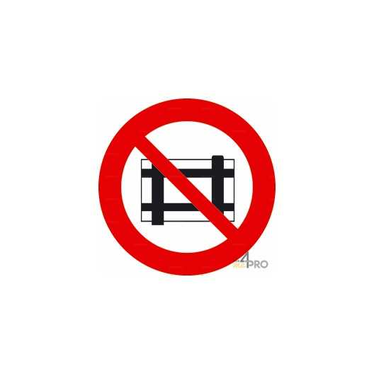 Panneau interdiction de déposer et entreposer