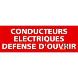 Panneau conducteurs électriques défense ouvrir