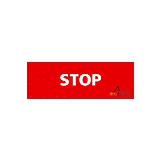 Panneau stop rectangulaire