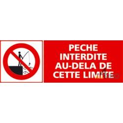 Panneau pêche interdite au-delà de cette limite