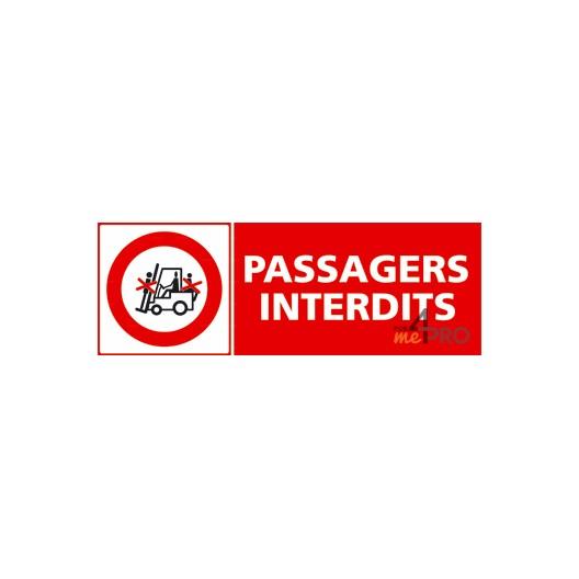 Panneau passagers interdits