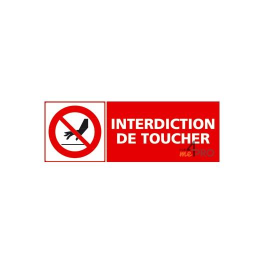 Panneau rectangulaire interdiction de toucher 1