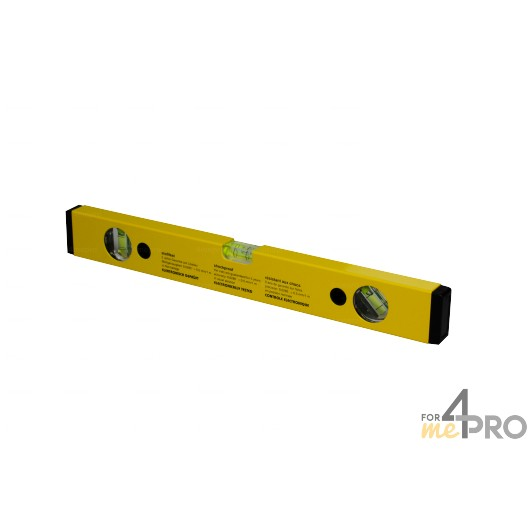 Niveau profil alu jaune 40 cm