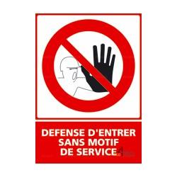 Panneau vertical défense d'entrer sans motif de service
