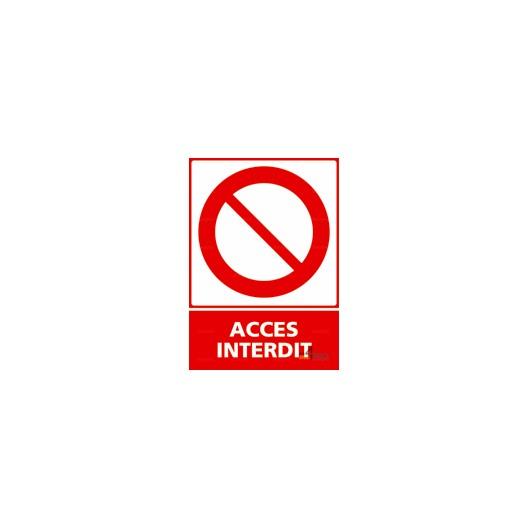 Panneau vertical accès interdit 2