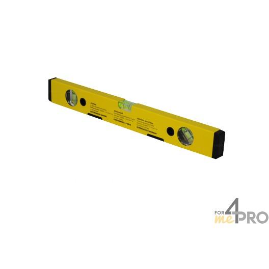 Niveau profil alu jaune aimanté 40 cm