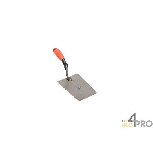 Truelle carrée professionnelle - manche bimatière 34,7 cm