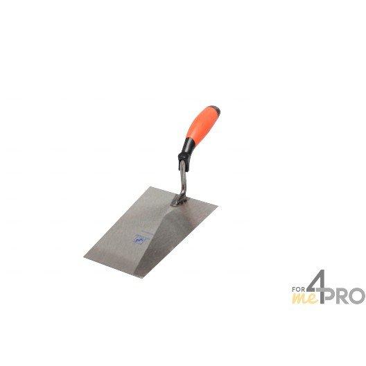 Truelle carrée professionnelle - manche bimatière 36,5 cm