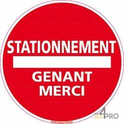 Panneau rond stationnement g nant merci 4mepro for Stationnement devant garage sans panneau