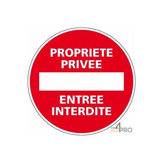Panneau rond Propriété privée - entrée interdite