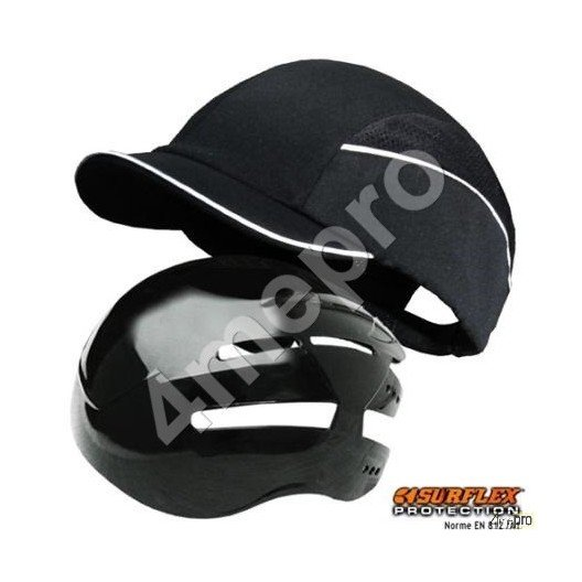 Casquette de protection Top short noir NF EN812 A1