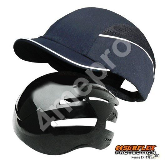 Casquette de protection Top short bleu marine NF EN812 A1