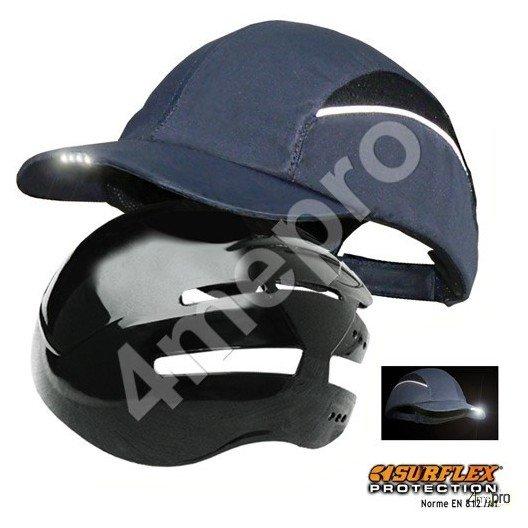 Casquette de protection Led bleu marine NF EN812 A1