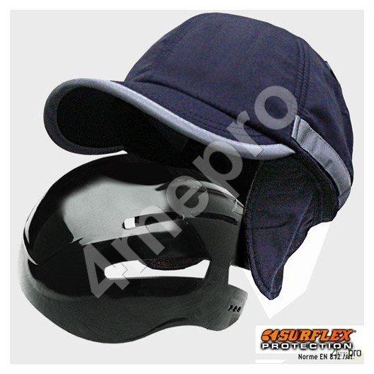 Casquette de protection Hiver bleu marine NF EN812 A1