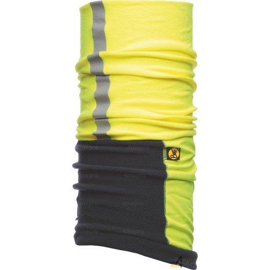 Bandeau multifonction réfléchissant protection vent et froid Buff Windproof jaune et bleu