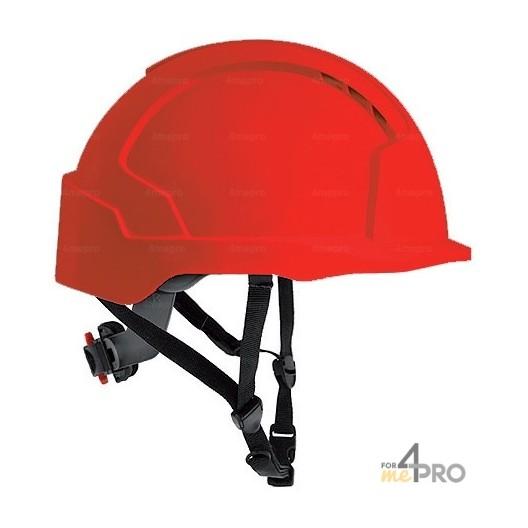 Casque de sécurité rouge pour travaux en hauteur - EN 397