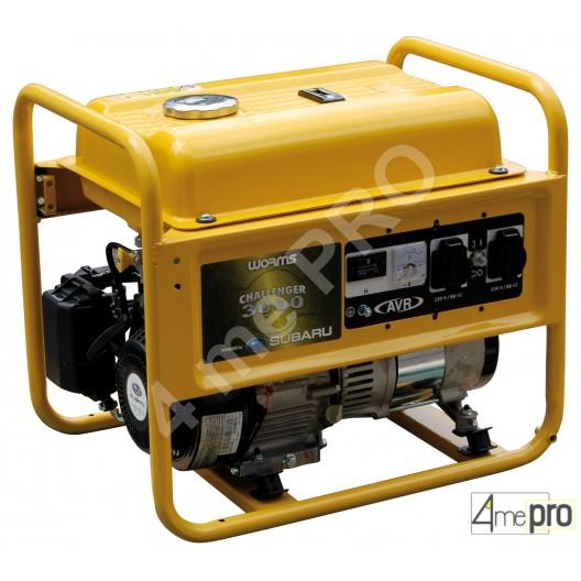 Groupe électrogène à essence monophasé Challenger 3000 AVR - 2,5 kW