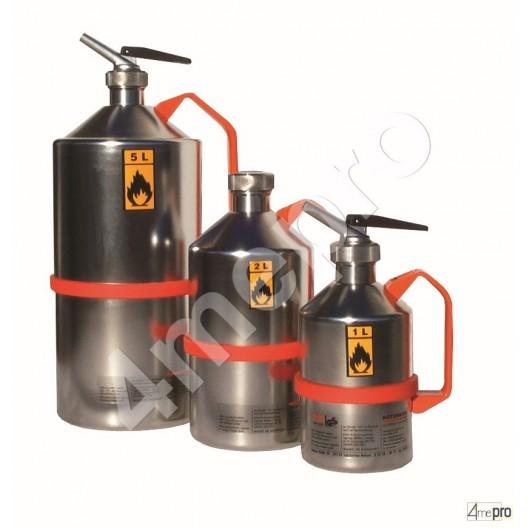 Bidon de sécurité inox 2 L avec valve de surpression