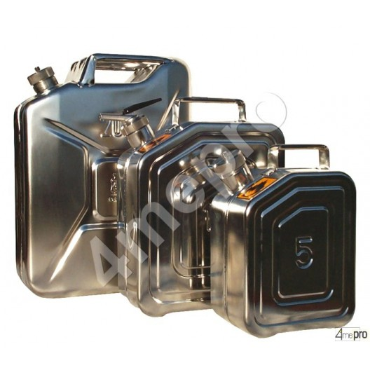 Jerrican inox 5 L avec valve de surpression