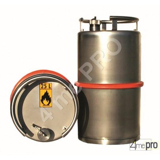 Fût inox 25 L avec valve de surpression