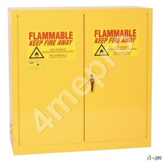 Armoire de sécurité 170 L jaune pour produits inflammables avec portes à fermeture automatique