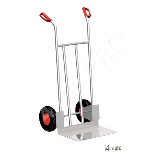 Diable alu usage industriel 200 kg roues pneumatiques