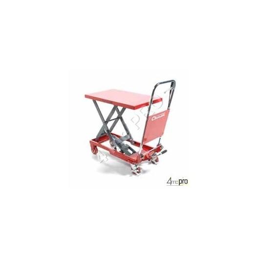 Table élévatrice manuelle acier 150 kg