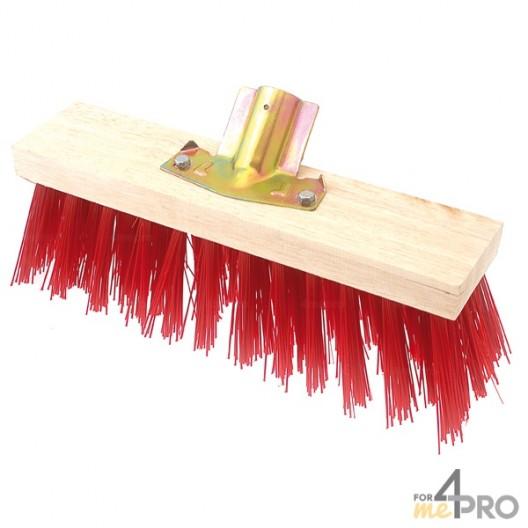Balai cantonnier PVC rouge 60 cm